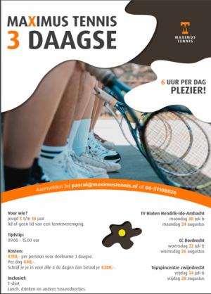Flyer-tennisdriedaagse